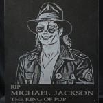 Лазерно гравиране на гранит Michael Jackson
